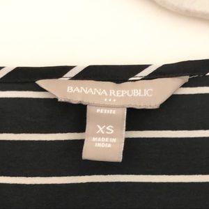 Banana Republic Tops - Black white striped business casual short sleeve